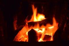 Hot briquettes,hot coal briquette, briquette fire, coal briquettes fire, burning coal briquettes in a hot stove, coal briquets Stock Photos