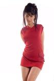 Hot brunette girl Stock Photos