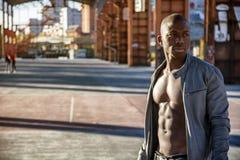 Hot buff black man posing Stock Images