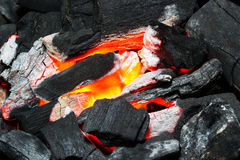 Hot burning coals Stock Photography