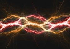 Hot burning fire lighning,. Plasma and energy electrical background Stock Photo