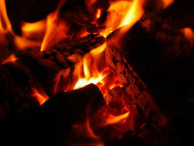 Hot burning flame. Ember isolated Stock Photography
