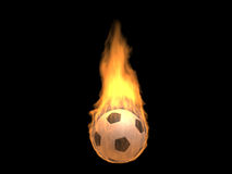 Hot burning football Stock Photography