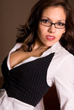 Hot business woman. Royalty Free Stock Images