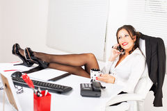 Hot business woman Stock Photography