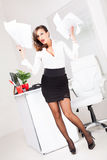 Hot business woman Stock Images