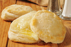Hot buttered biscuits Royalty Free Stock Photos