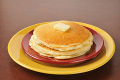 Hot buttered pancakes Royalty Free Stock Photo