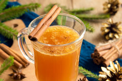 Hot buttered rum cocktail Royalty Free Stock Photos