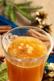 Hot buttered rum cocktail Stock Photos