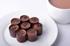 Hot cacao and chocolate Royalty Free Stock Photography