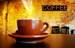 Hot cafe coffee Royalty Free Stock Photos