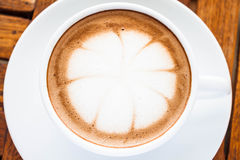 Hot cafe mocha cup Royalty Free Stock Photo
