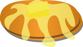 Hot cake illustration Royalty Free Stock Image