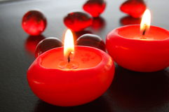 Hot candles royalty free stock photo