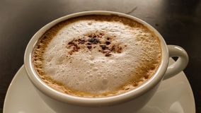 Hot Cappuccino coffee Royalty Free Stock Photo