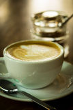 Hot cappuccino. Royalty Free Stock Photo