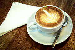 Hot cappuccino. Royalty Free Stock Images