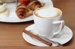 Hot cappuccino coffee. Stock Photo