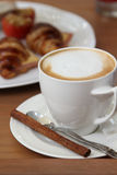 Hot cappuccino coffee. Royalty Free Stock Photos