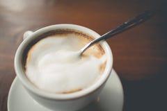 Hot cappuccino coffee Stock Photo