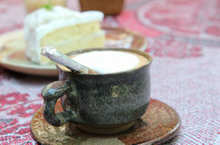 Hot cappuccino Stock Images
