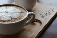 Hot cappuccino Royalty Free Stock Photo