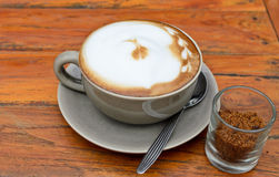 Hot cappuccino Stock Image