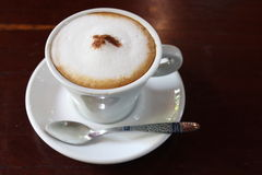 Hot cappuccino Stock Photography