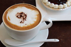 Hot cappuchino Royalty Free Stock Image