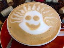 Hot cappuchino coffee Stock Photo