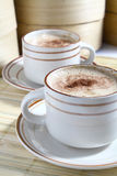 Hot cappucino Royalty Free Stock Photos