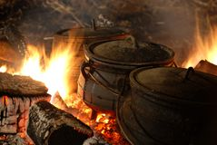 Hot cauldron Stock Photos