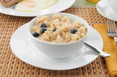 Hot cereal breakfast Stock Photography