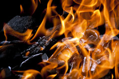 Hot charcoal Stock Images