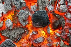 Hot Charcoal Stock Photo