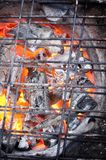 Hot charcoal preparing Royalty Free Stock Images