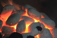 Hot charcoal Royalty Free Stock Images