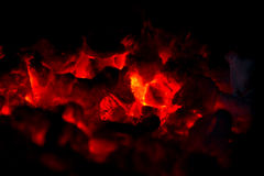 Hot charcol burning Royalty Free Stock Photos