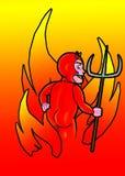 Hot & Cheeky. Little hell raiser vector illustration