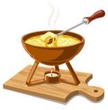 Hot cheese fondue Royalty Free Stock Photography