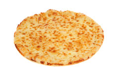 Hot cheese pizza. On white background Stock Images