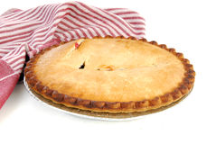 Hot cherry pie Stock Photo