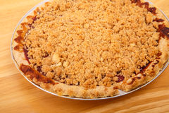 Hot Cherry Pie with Crumb Topping Stock Photos