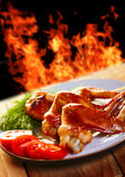 Hot chicken BBQ a Royalty Free Stock Photo