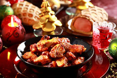 Hot chicken wings. For Christmas Royalty Free Stock Photo