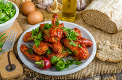 Hot chicken wings Royalty Free Stock Image