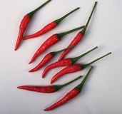 Hot Chile Peppers Stock Photo