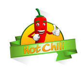 Hot chili banner Royalty Free Stock Photo