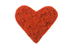 Hot chili heart Royalty Free Stock Images